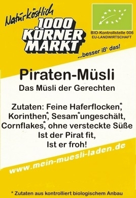 Piraten-Müsli, 750 g